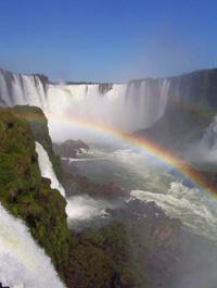 arco iris en Iguazu - Brasil -