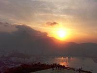puesta de sol en Rio de Janeiro