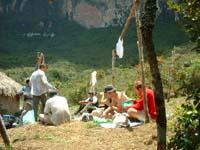 campamento en la pared del roraima tepuy