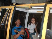 con Martiniano y Bianca en el teleferico