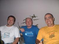con Ivano y un amigo porteño