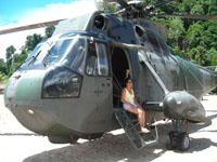 bego en el helicoptero